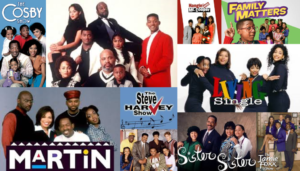 Black 90s Sitcom photo collage