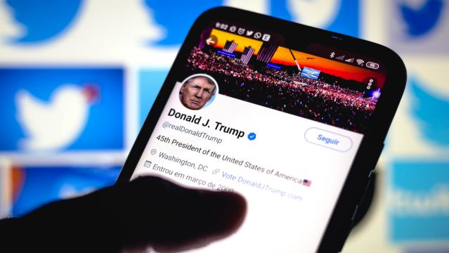 In this photo illustration the Twitter feed of the President