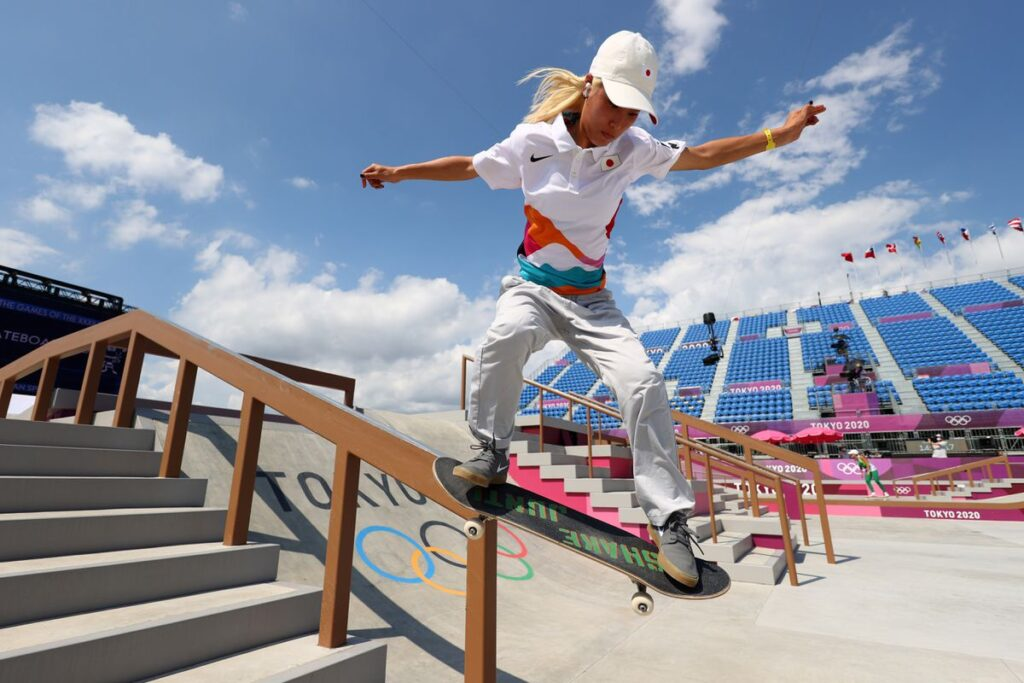 Aori Nishimura of Japan in action during training. REUTERS:Lucy Nicholson
